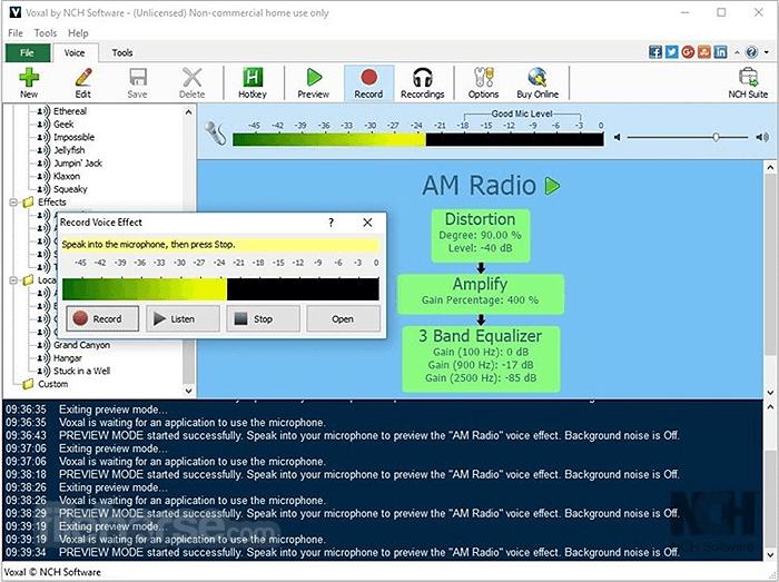 Voxal Voice Changer 5.04 Screenshot 1