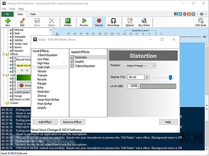 Voxal Voice Changer 5.04 Screenshot 2