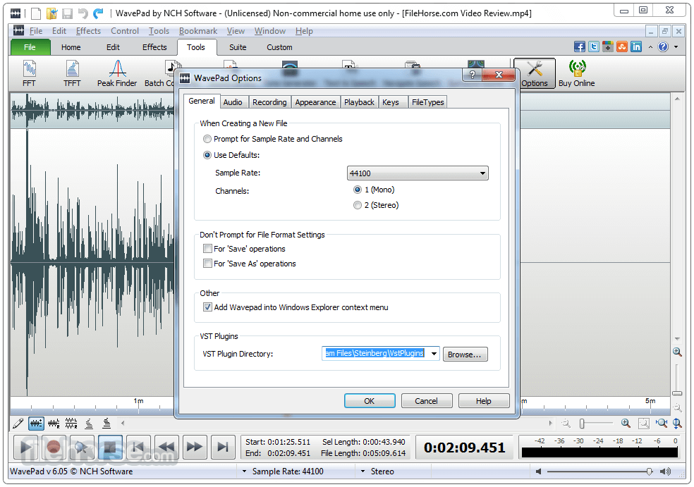 WavePad Sound Editor 8.13 Captura de Pantalla 5