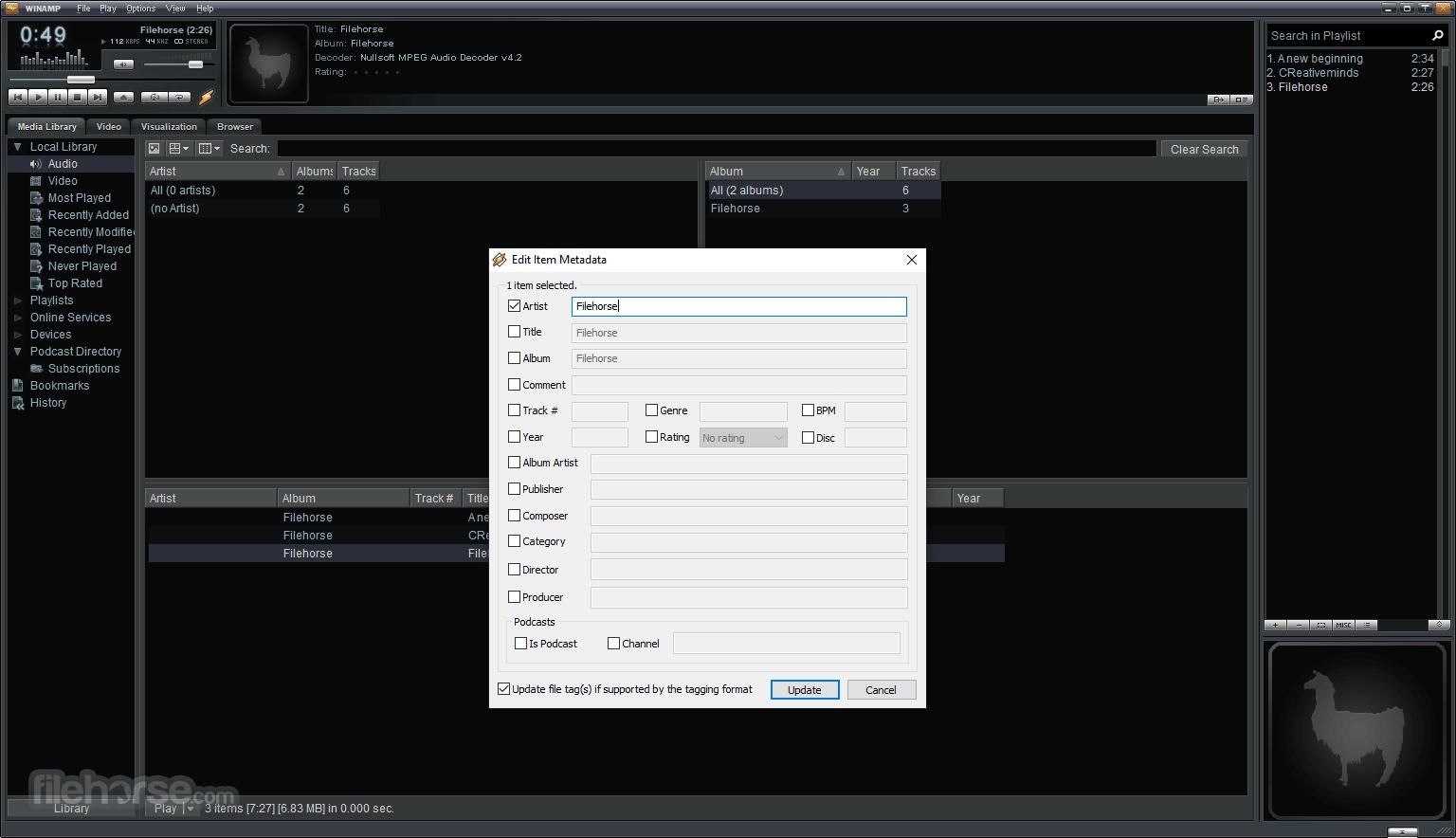 Winamp 5.666 Full Build 3516 Screenshot 2