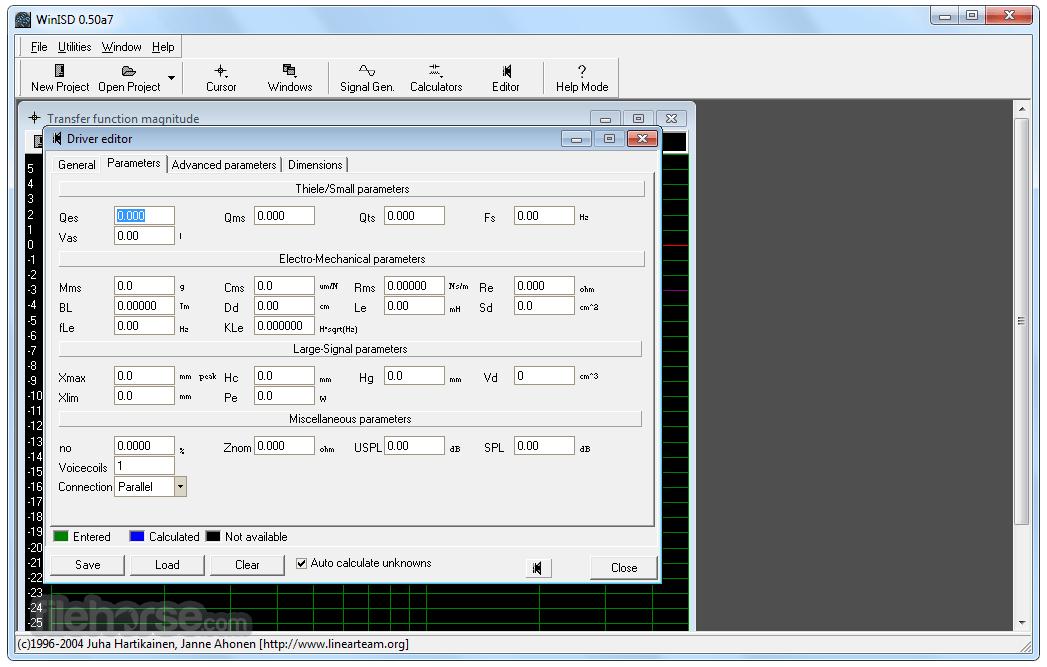 WinISD Pro 0.50 Alpha 7 Captura de Pantalla 2