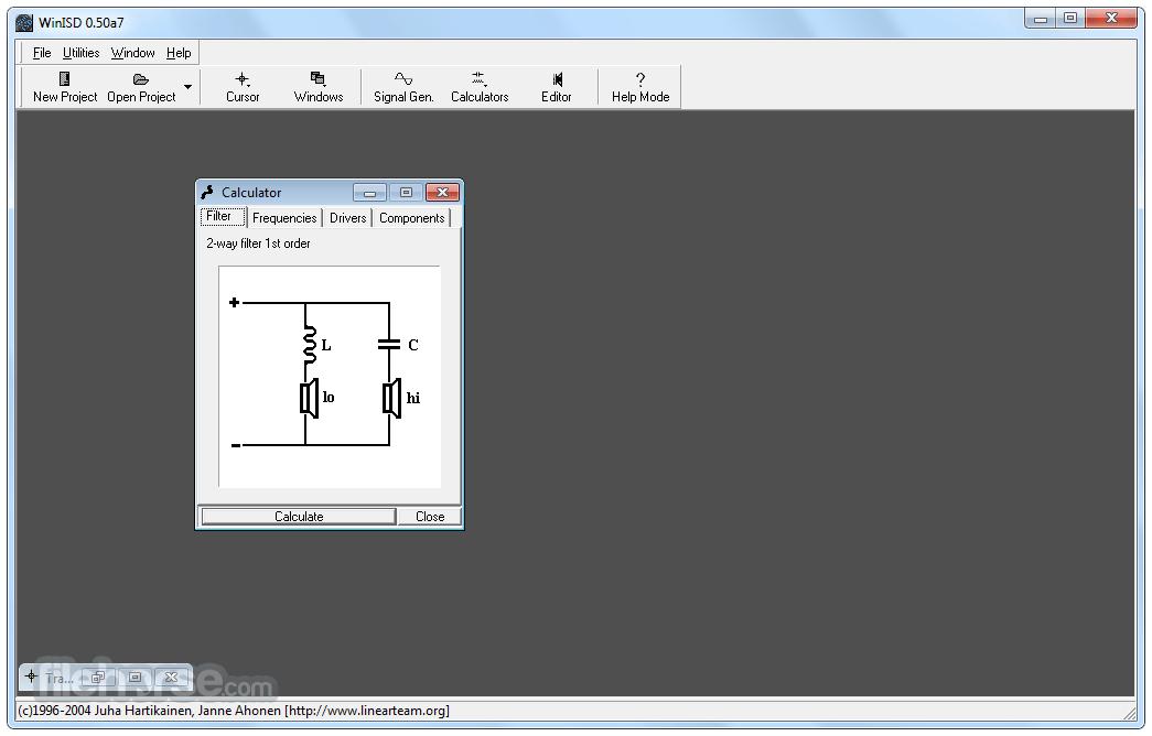 WinISD Pro 0.50 Alpha 7 Captura de Pantalla 3