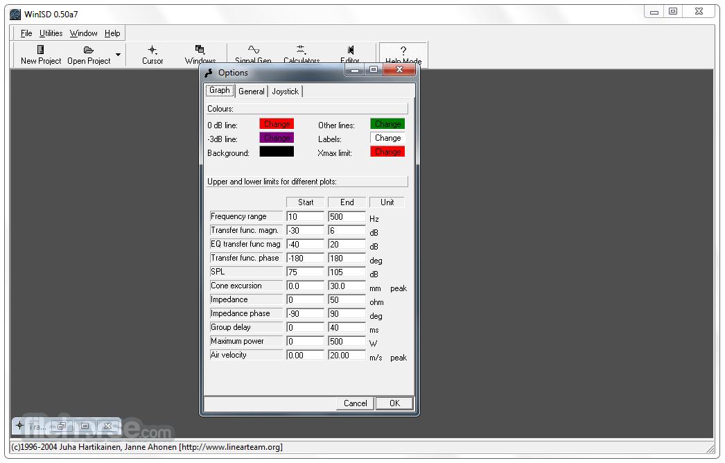 WinISD Pro 0.50 Alpha 7 Captura de Pantalla 5