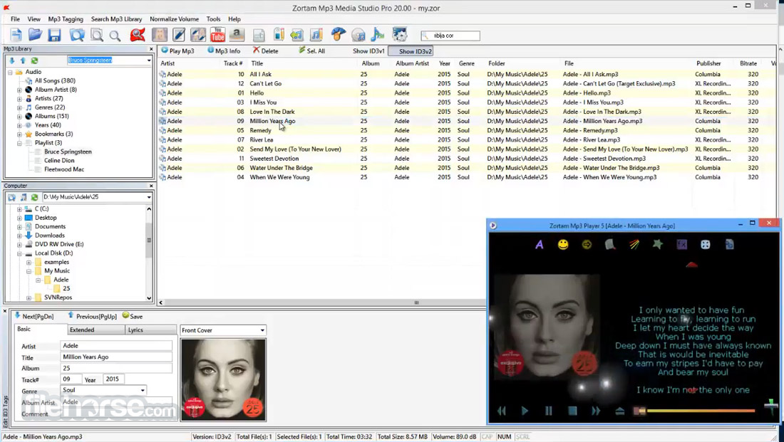 Zortam Mp3 Media Studio 23.20 Screenshot 2