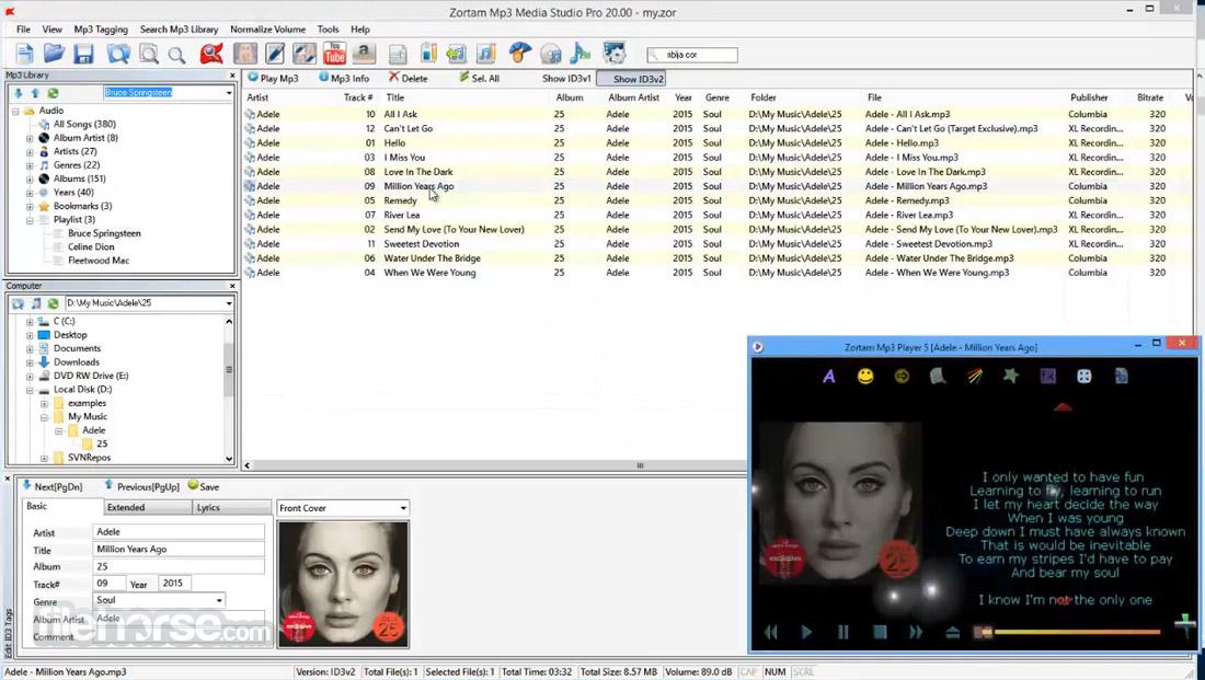 Zortam Mp3 Media Studio 22.70 Screenshot 2