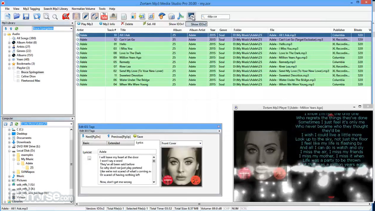 Zortam Mp3 Media Studio 23.20 Screenshot 3