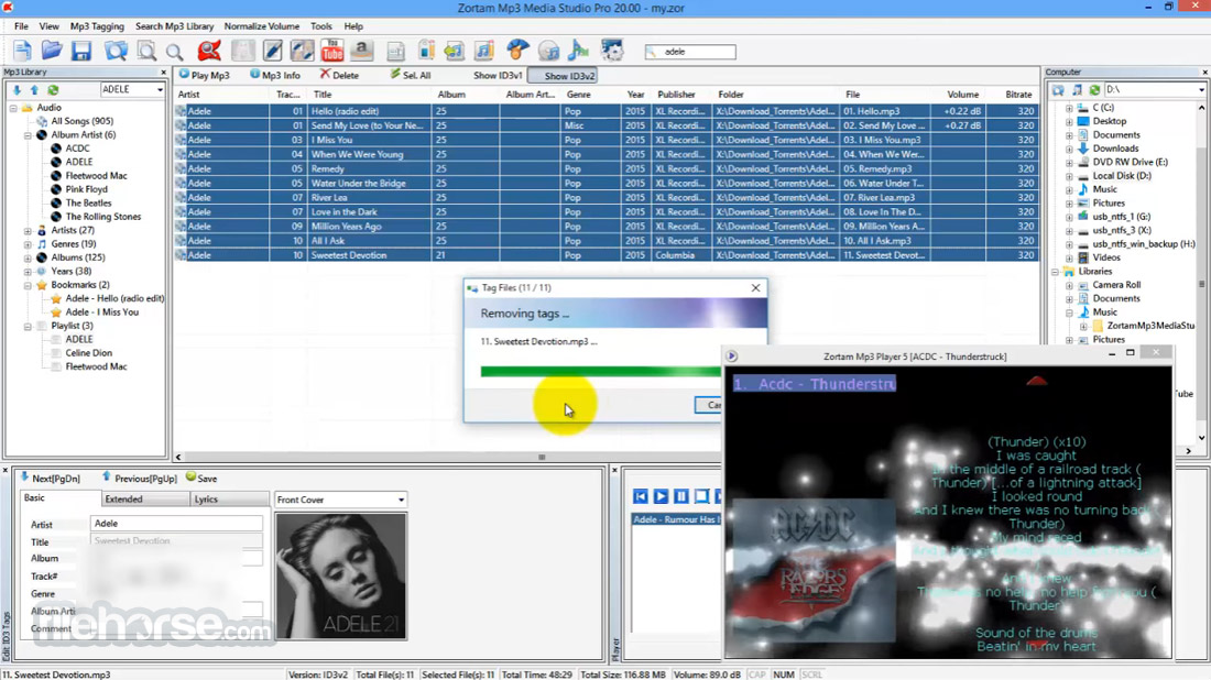 Zortam Mp3 Media Studio 22.70 Screenshot 4