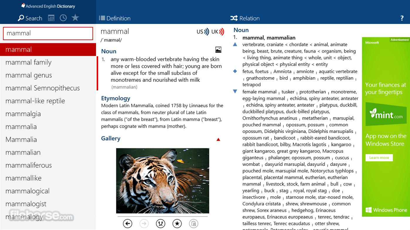 Download  Advanced English Dictionary for Windows free 2021