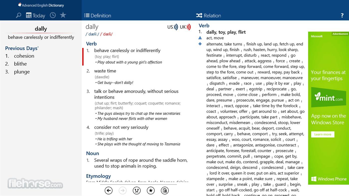 Advanced English Dictionary 4.3.3 Captura de Pantalla 3