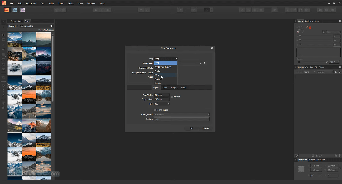 Affinity Publisher 1.7.2 Screenshot 1