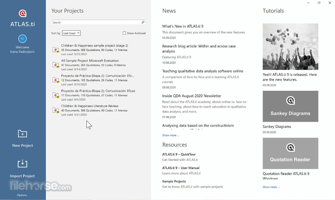 Download  ATLAS.ti for Windows free 2021