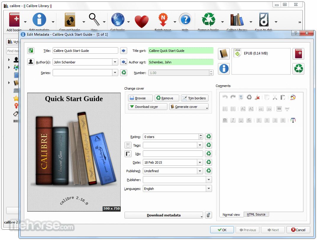 Calibre 3.0.0 (32-bit) Download for Windows / FileHorse.com