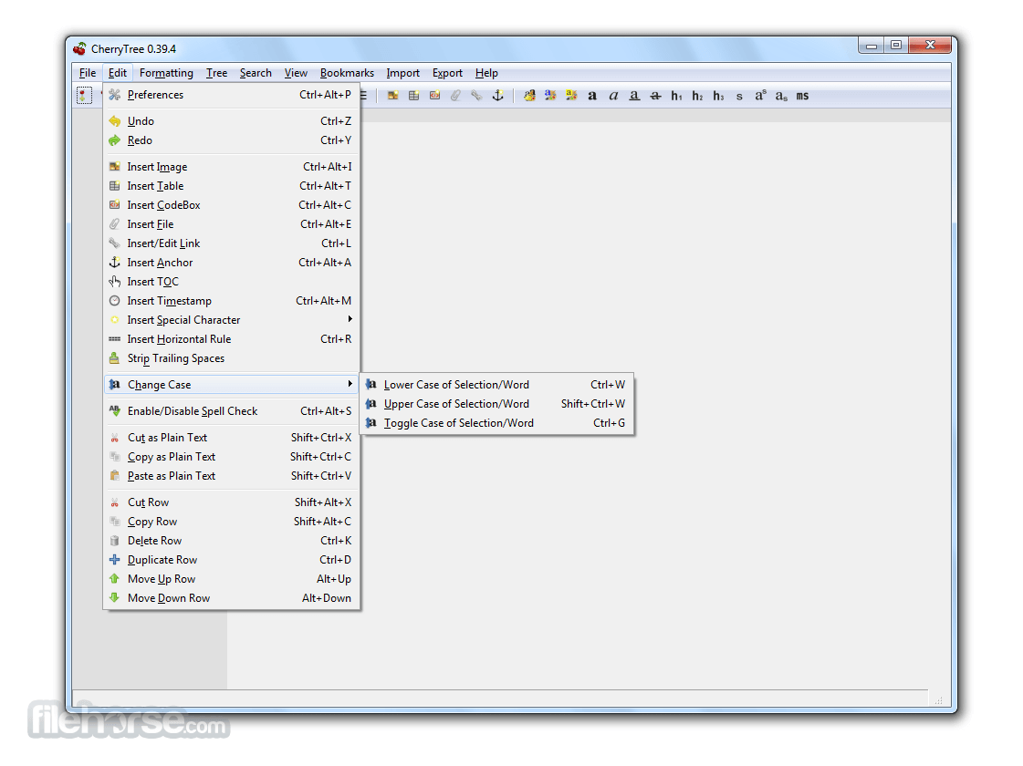 CherryTree 0.99.38 Screenshot 1