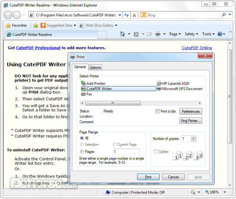 CutePDF Writer 3.2 Download for Windows / FileHorse.com Cutepdf Writer