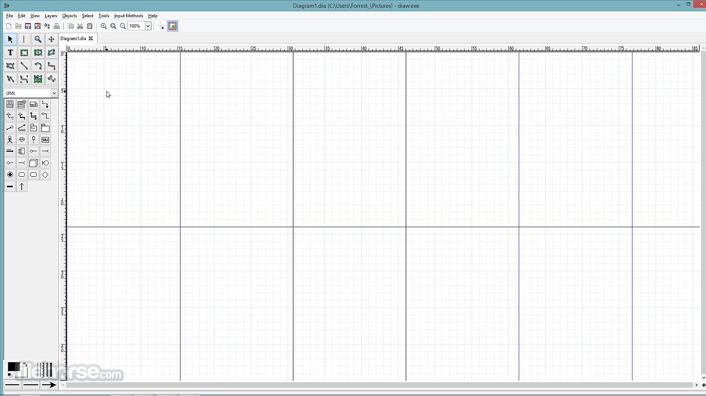 Dia Diagram Editor 0.97 Captura de Pantalla 1