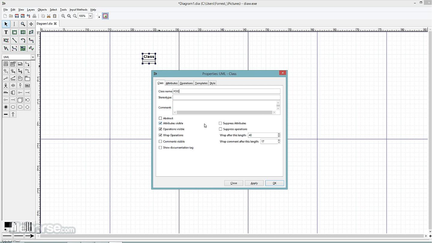 Dia Diagram Editor 0.97 Captura de Pantalla 2