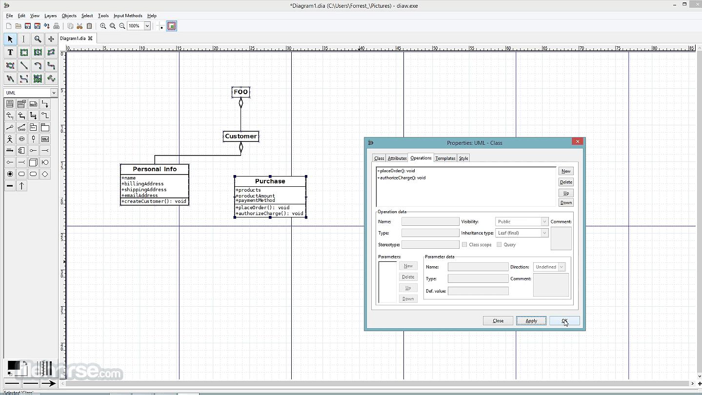 Dia Diagram Editor 0.97 Captura de Pantalla 4