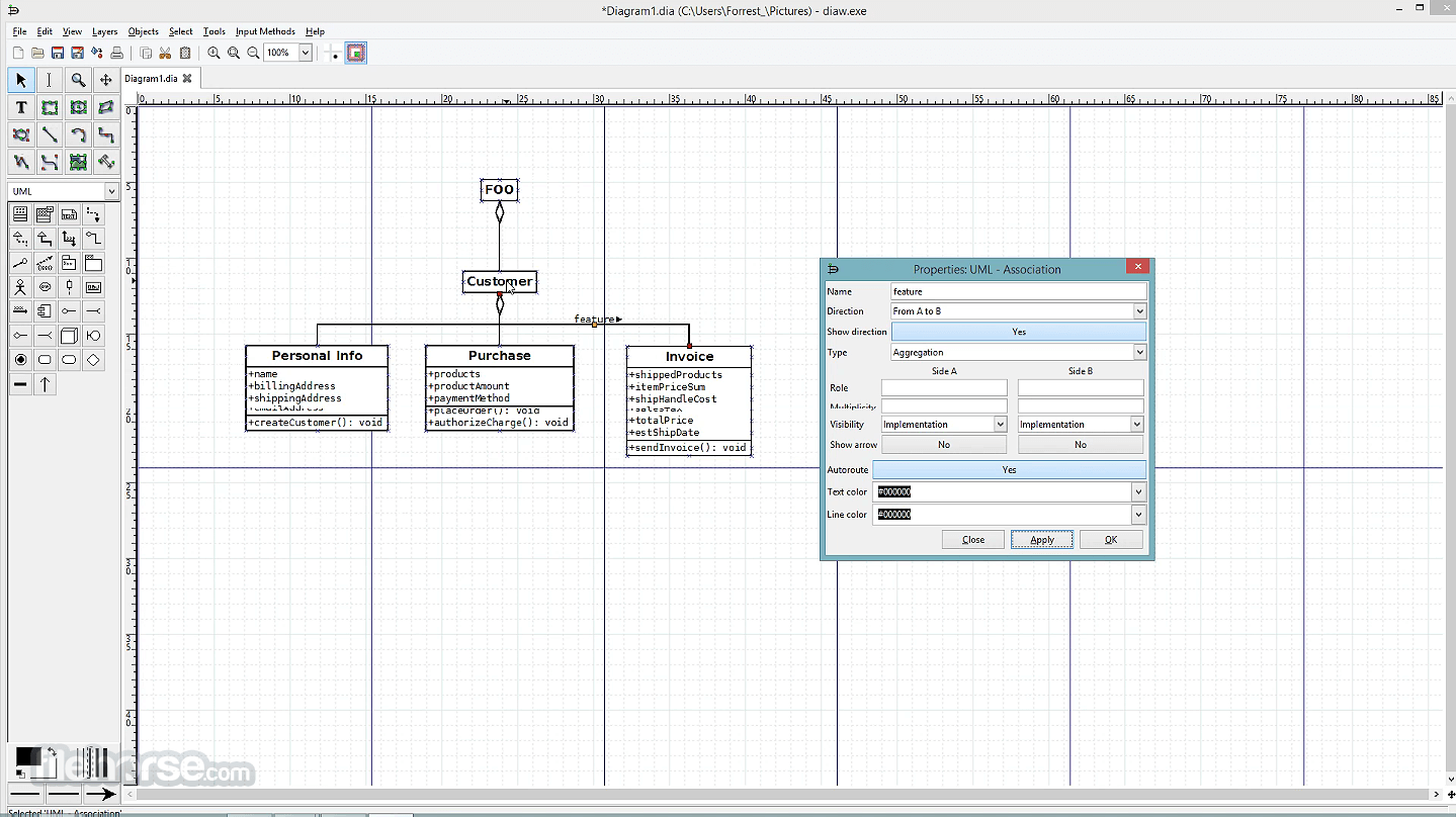 Dia Diagram Editor 0.97 Captura de Pantalla 5