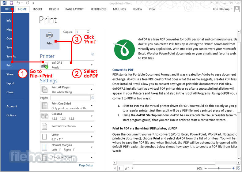doPDF 9.0.218 Screenshot 3