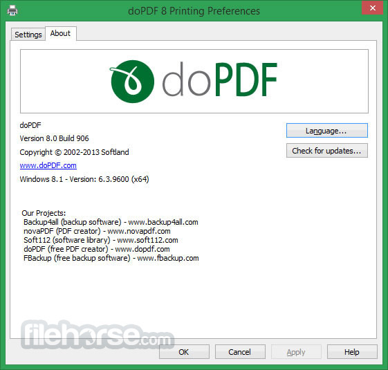 doPDF 9.0.218 Screenshot 5