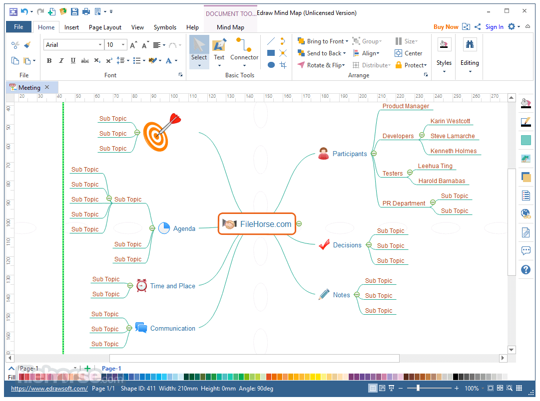 EDraw Mind Map 8.7.5 Captura de Pantalla 1