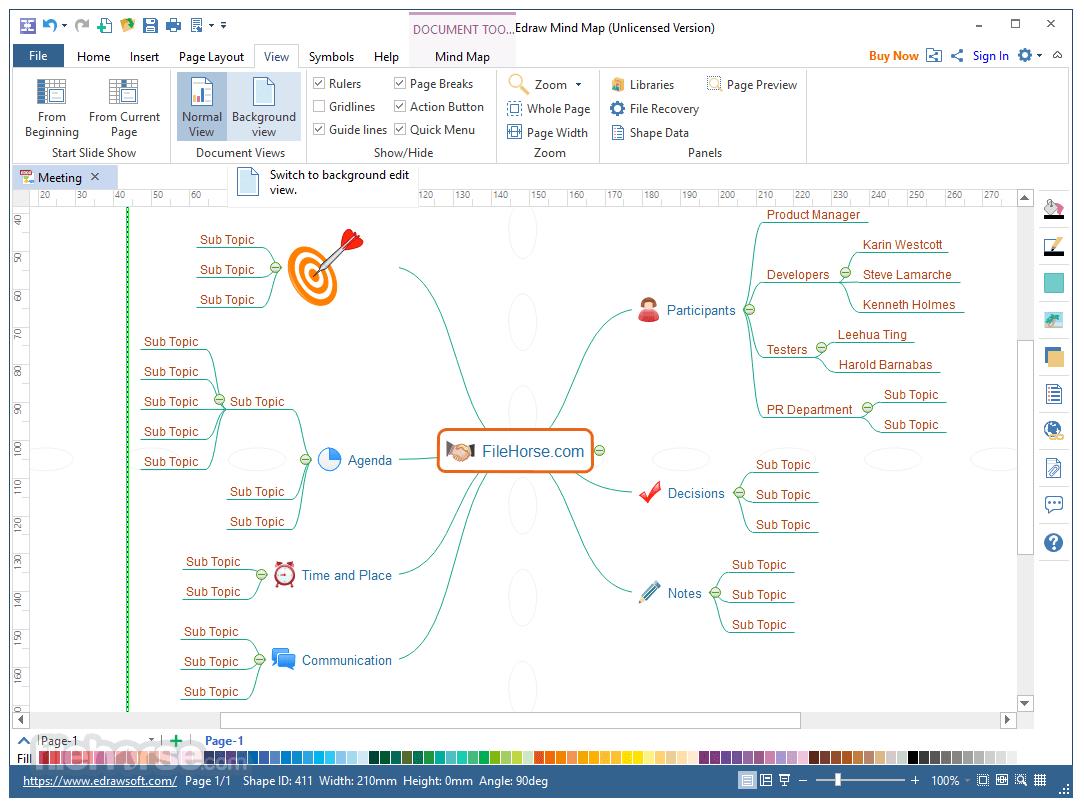 EDraw Mind Map 8.7.5 Captura de Pantalla 4