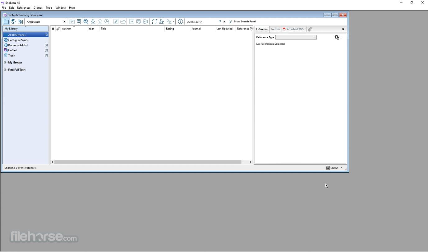 EndNote X20 Screenshot 1