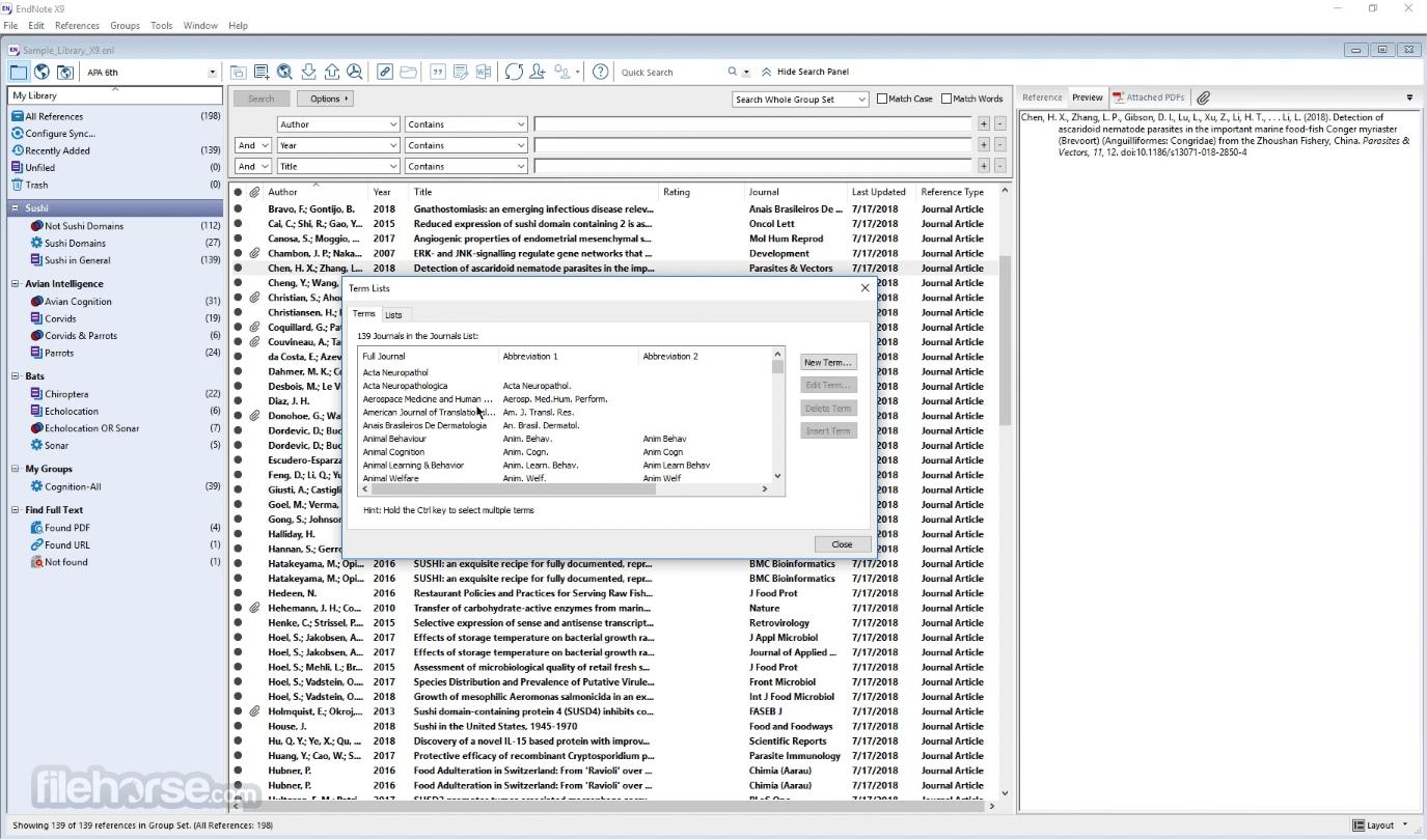 EndNote X20 Screenshot 4