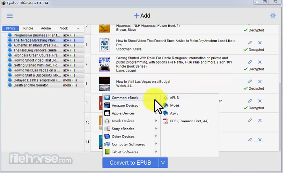 Epubor Ultimate eBook Converter 3.0.10.627 Captura de Pantalla 5