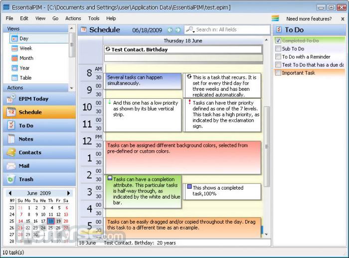 EssentialPIM 7.61 Screenshot 1