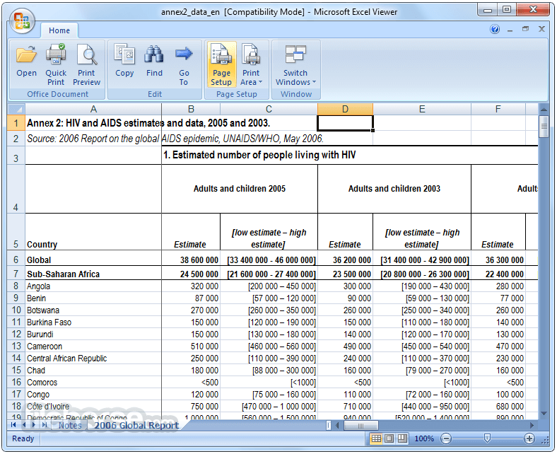 Excel Viewer 1.0 Screenshot 1