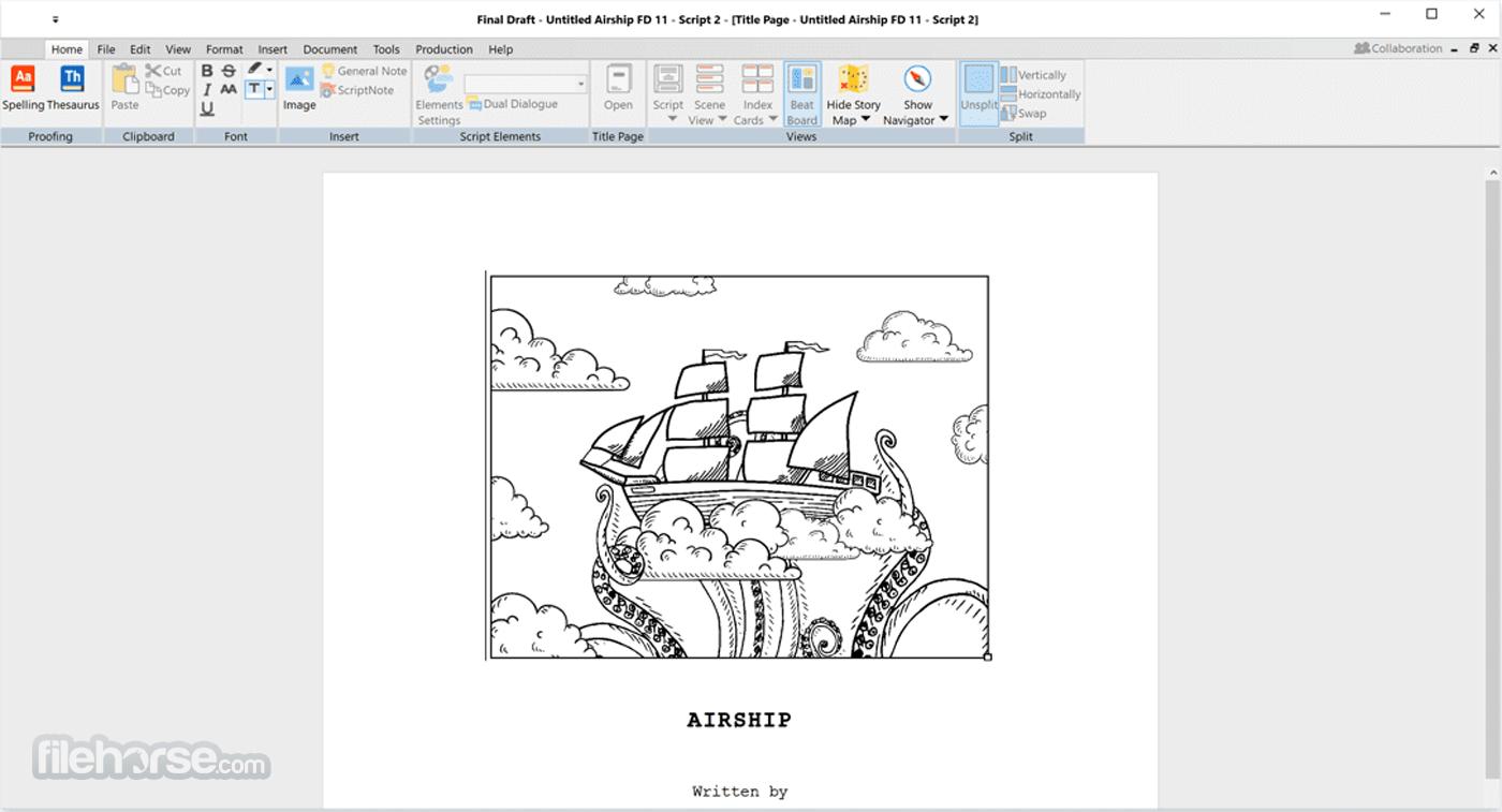 Final Draft 11.1.2 Build 77 Screenshot 2
