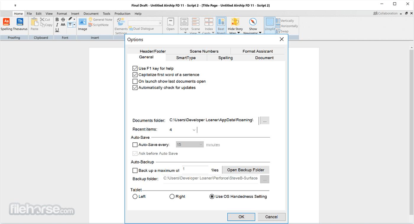 Final Draft 11.1.2 Build 77 Screenshot 3