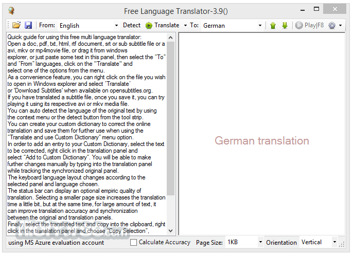 Free Language Translator 3.9.0.0 Captura de Pantalla 1