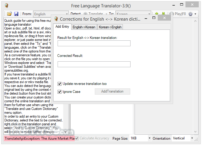 Free Language Translator 3.9.0.0 Captura de Pantalla 3