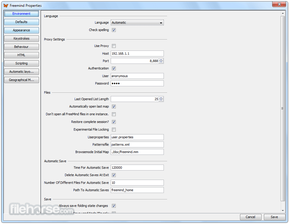 FreeMind 1.0.1 Screenshot 5