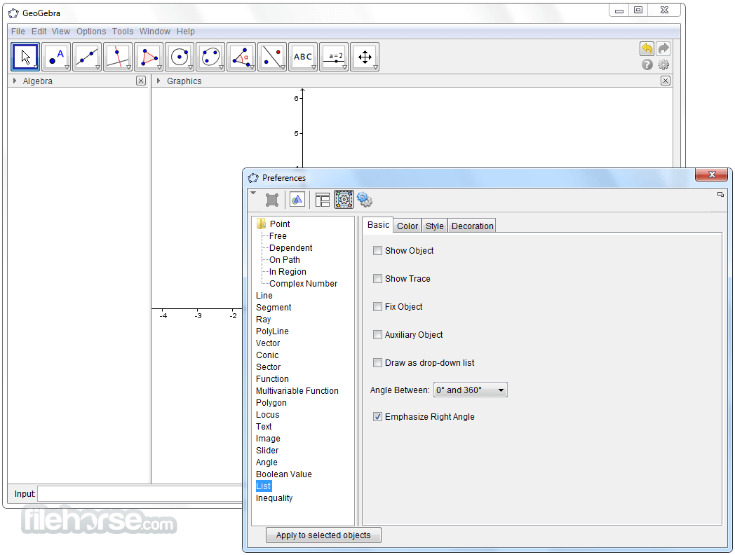 GeoGebra 6.0.417.0 Screenshot 5