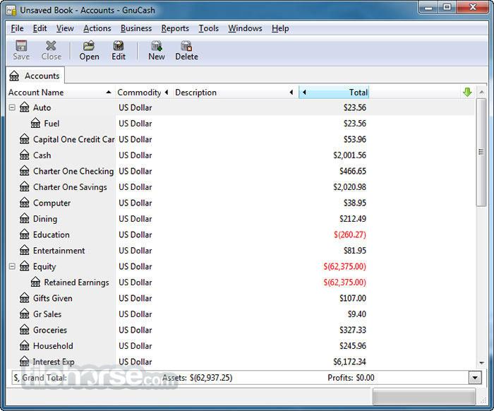 GnuCash 2.7.3 Screenshot 1
