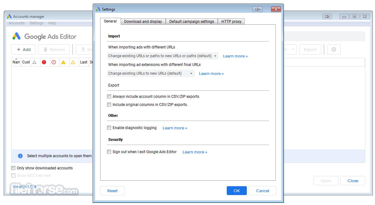 Google AdWords Editor 1.3.0 Screenshot 2
