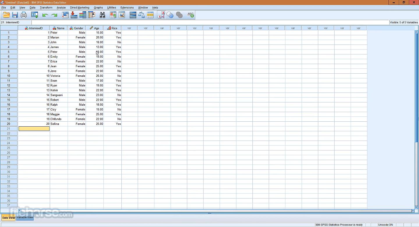 IBM SPSS Statistics 26.0 (32-bit) Captura de Pantalla 3