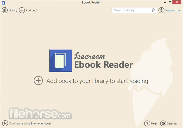 IceCream Ebook Reader 5.07 Screenshot 1