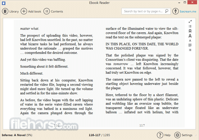 IceCream Ebook Reader 5.07 Screenshot 3