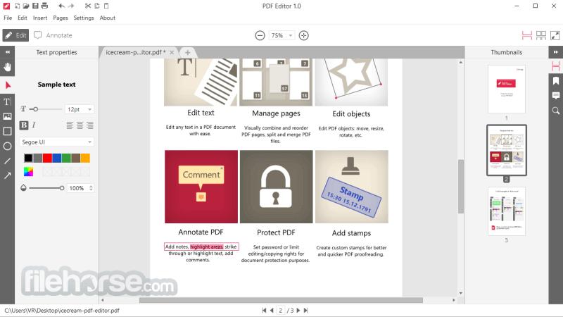 IceCream PDF Editor Download (2020 Latest) for Windows 10, 8, 7