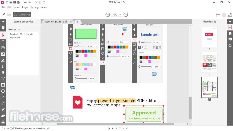 Icecream Pdf Editor Download 2020 Latest For Windows 10 8 7
