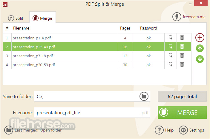 IceCream PDF Split & Merge 3.41 Captura de Pantalla 3