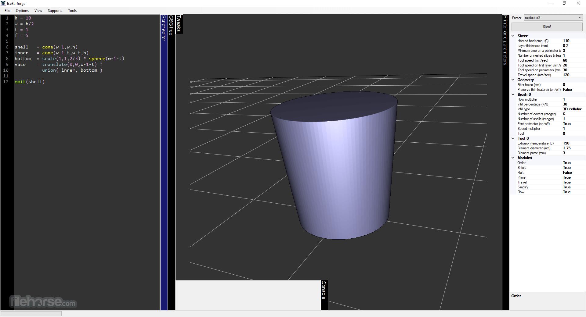 IceSL 2.3.5 (32-bit) Captura de Pantalla 1