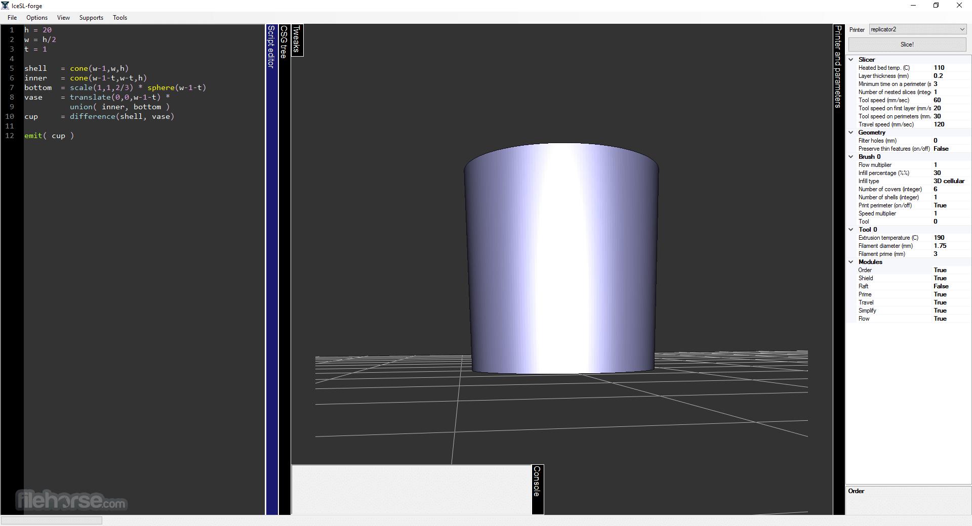 IceSL 2.3.5 (32-bit) Captura de Pantalla 3