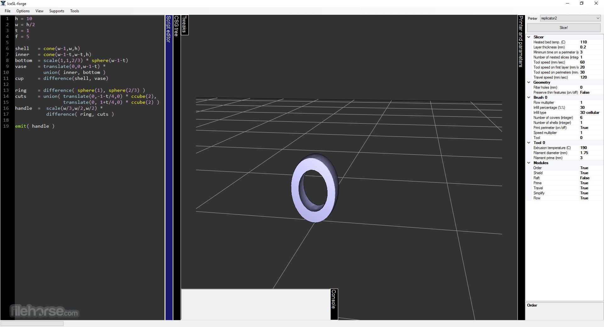 IceSL 2.3.5 (32-bit) Captura de Pantalla 4