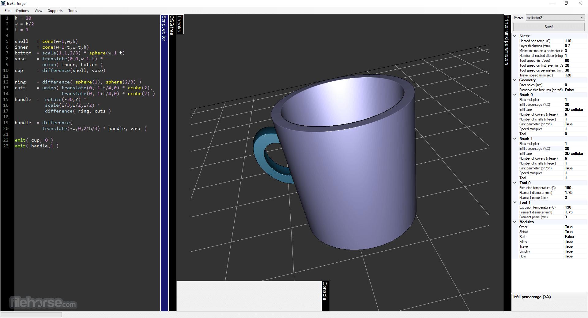 IceSL 2.3.5 (32-bit) Captura de Pantalla 5