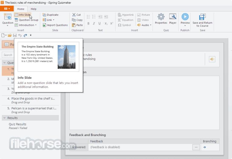 iSpring QuizMaker 9.7.0 Screenshot 2